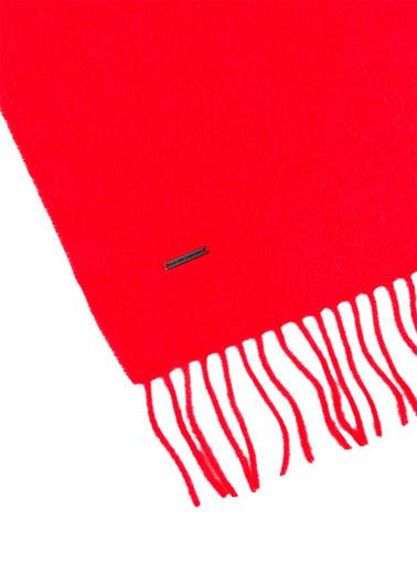 Silk and Cashmere Saf Kaşmir Patrick Tek Tarafli Atki Kırmızı